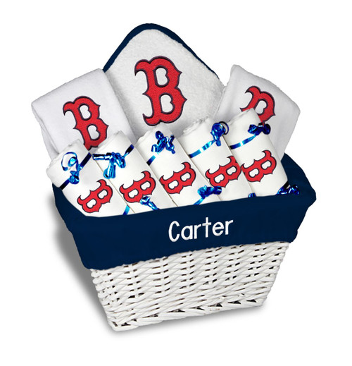 Boston Red Sox B Personalized 9-Piece Gift Basket