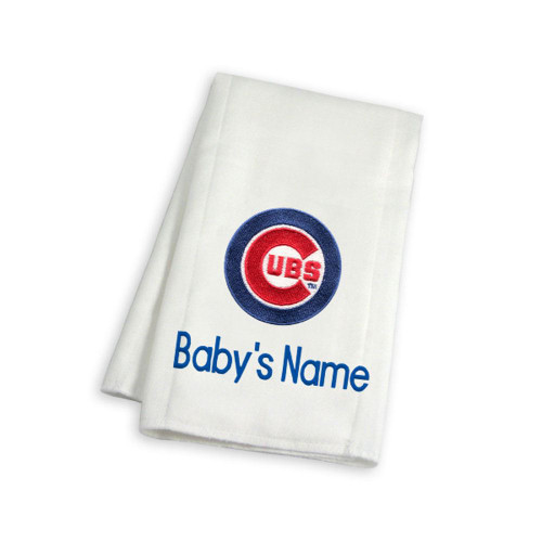 Chicago Cubs Personalized Burp Cloth