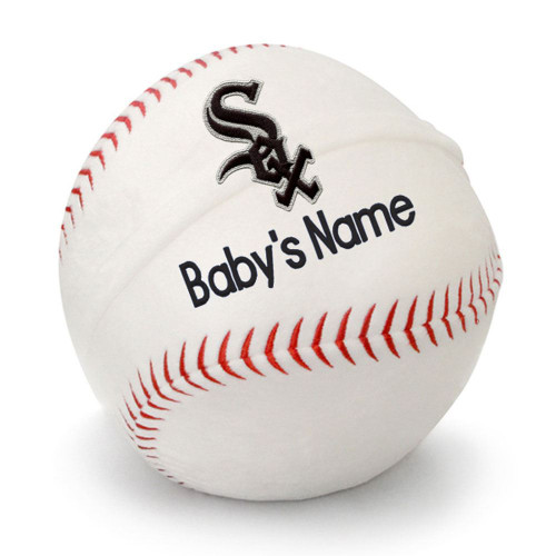 Chicago White Sox Personalized Baseball Pillow