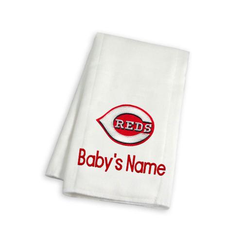Cincinnati Reds Personalized Burp Cloth