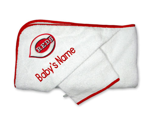 Cincinnati Reds Personalized Towel and Wash Cloth Gift Set