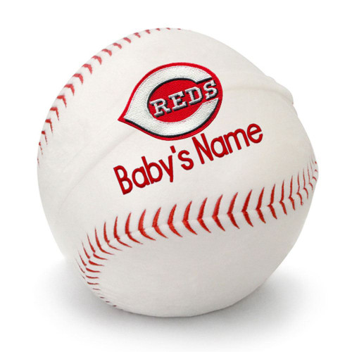 Cincinnati Reds Personalized Baseball Pillow