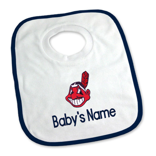 Cleveland Indians Personalized Pullover Baby Bib