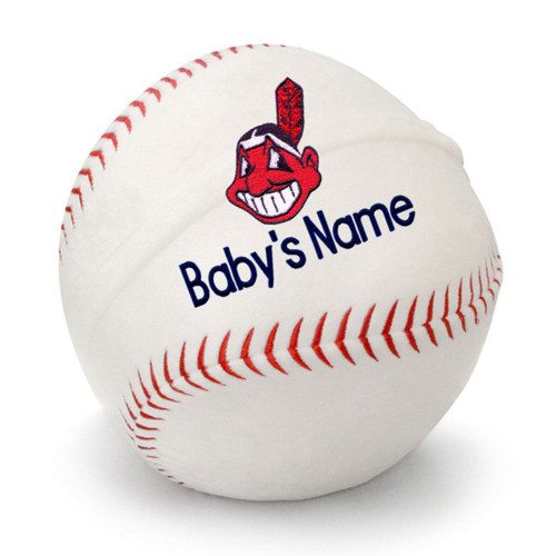 Cleveland Indians Personalized Baseball Pillow