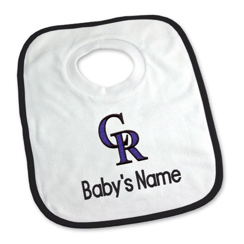 Colorado Rockies Personalized Pullover Baby Bib