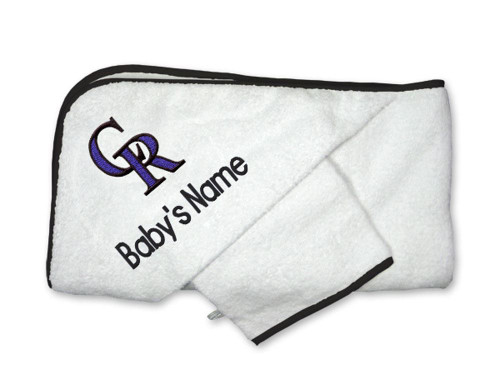 Colorado Rockies Personalized Towel and Wash Cloth Gift Set