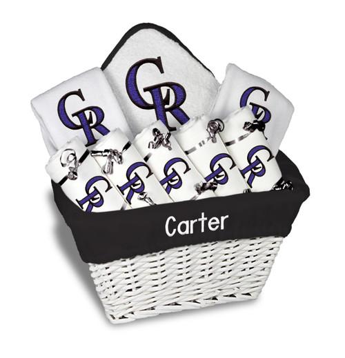 Colorado Rockies Personalized 9-Piece Gift Basket