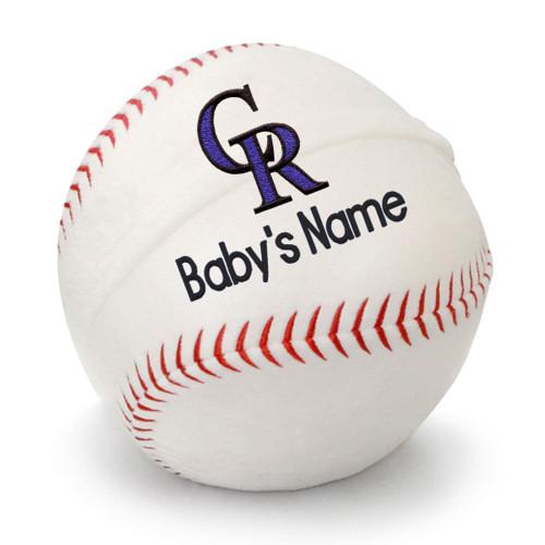 Colorado Rockies Personalized Baseball Pillow