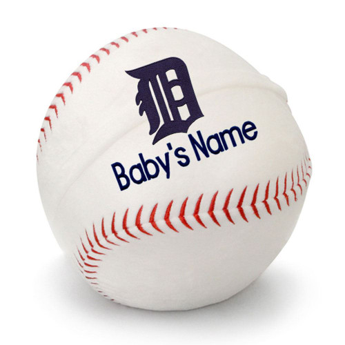 Detroit Tigers Personalized Baseball Pillow