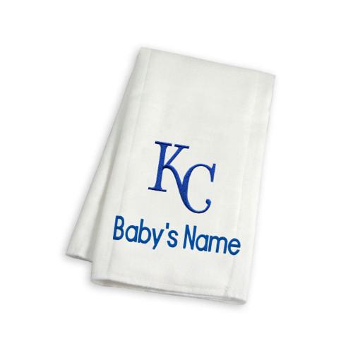 KC Royals Personalized Burp Cloth