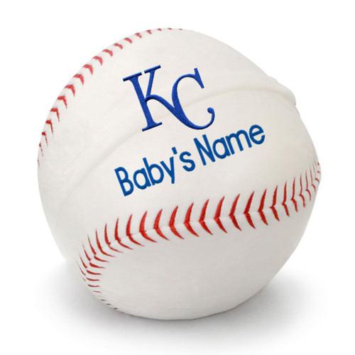 KC Royals Personalized Baseball Pillow