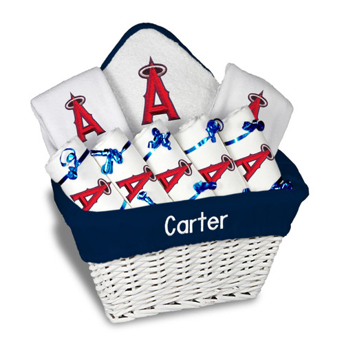 LA Angels Personalized 9-Piece Gift Basket