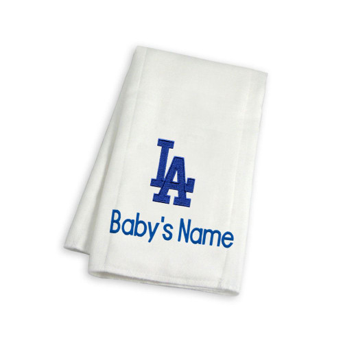 LA Dodgers Personalized Burp Cloth