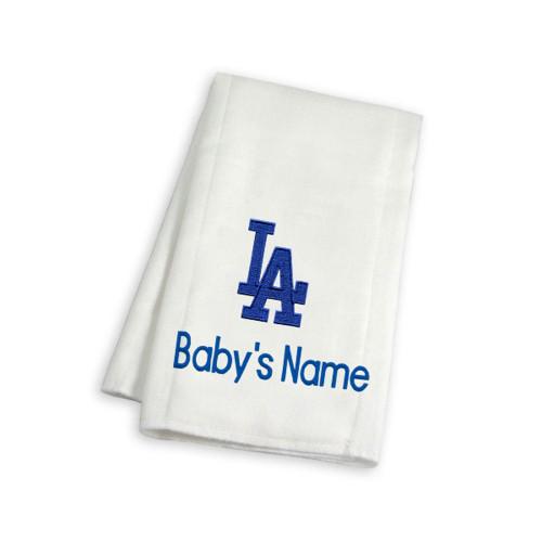 LA Dodgers Personalized Burp Cloth