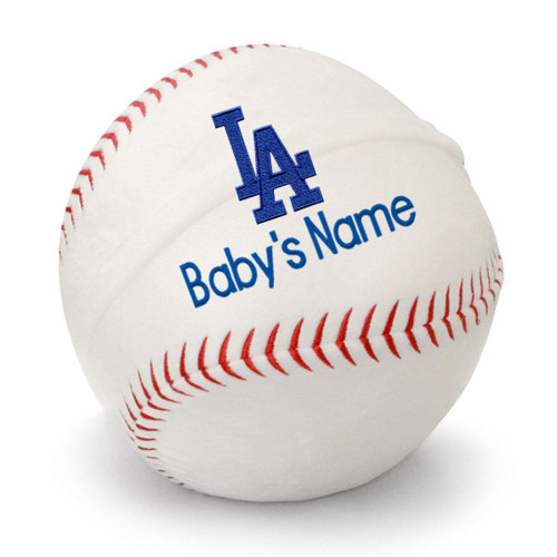 LA Dodgers Personalized Baseball Pillow