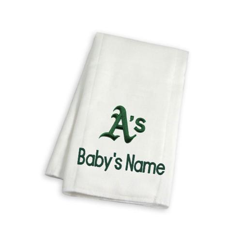 Oakland Athletics Personalized Burp Cloth