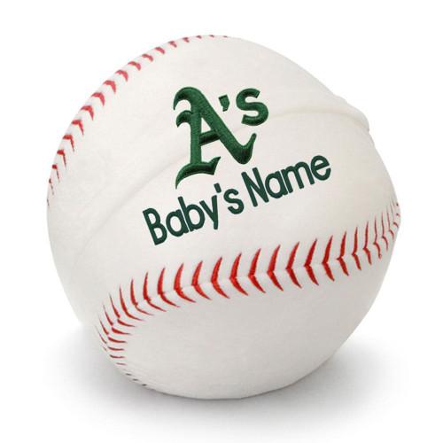 Oakland Athletics Personalized Baseball Pillow