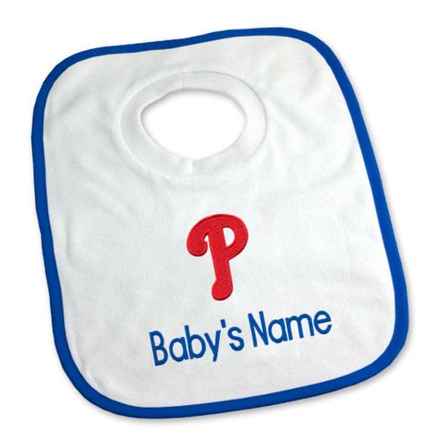 Philadelphia Phillies Personalized Pullover Baby Bib