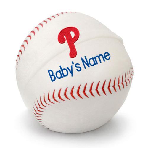 Philadelphia Phillies Personalized Baseball Pillow