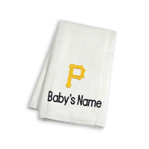 Pittsburgh Pirates Personalized Burp Cloth