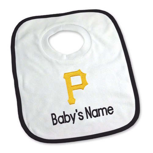 Pittsburgh Pirates Personalized Pullover Baby Bib