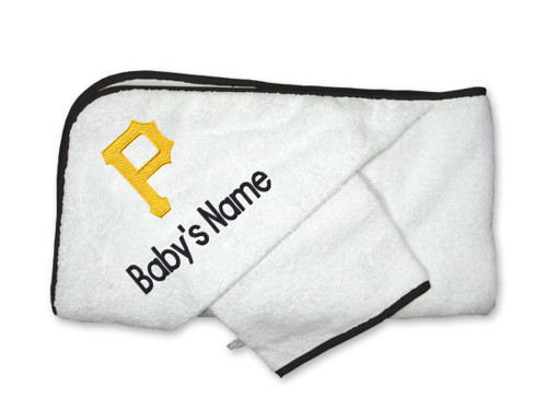 Pittsburgh Pirates Personalized Towel and Wash Cloth Gift Set