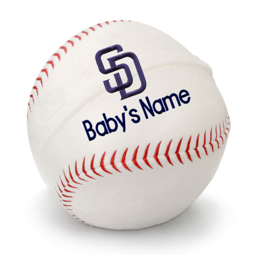SD Padres Personalized Baseball Pillow