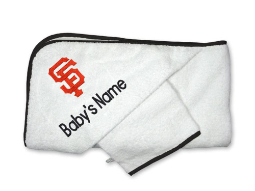 SF Giants Personalized Towel and Wash Cloth Gift Set
