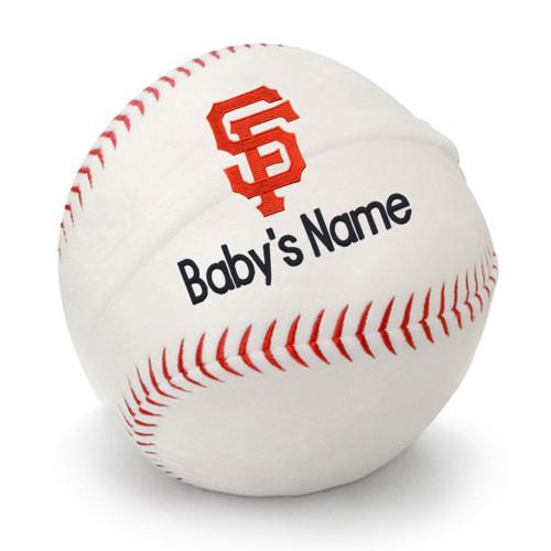 SF Giants Personalized Baseball Pillow