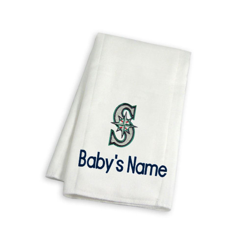 Seattle Mariners Personalized Burp Cloth