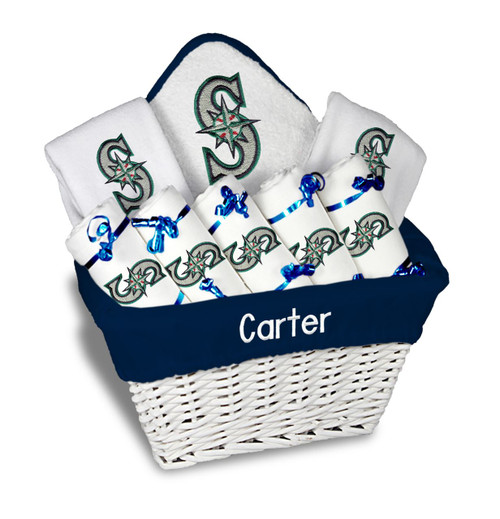 Seattle Mariners Personalized 9-Piece Gift Basket