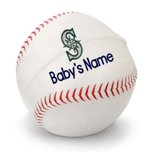 Seattle Mariners Personalized Baseball Pillow