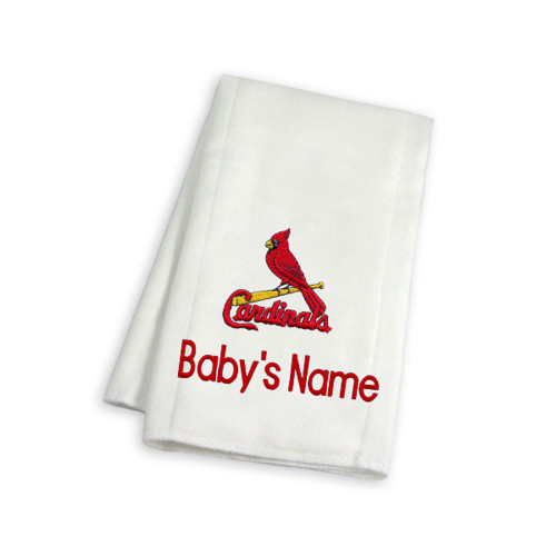 St Louis Cardinals Personalized Burp Cloth