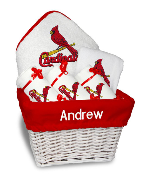 St Louis Cardinals Personalized 6-Piece Gift Basket