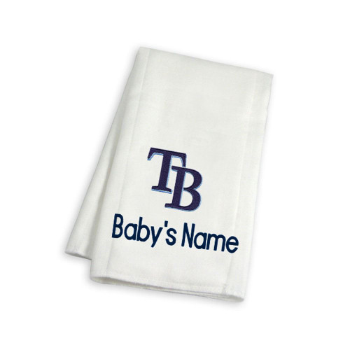 Tampa Bay Rays Personalized Burp Cloth