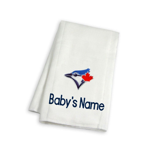 Toronto Blue Jays Personalized Burp Cloth
