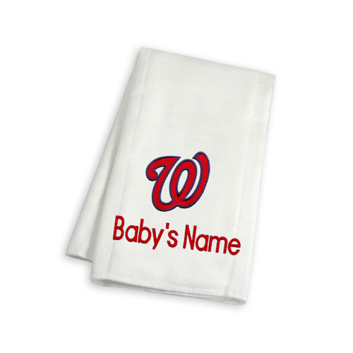 Washington Nationals Personalized Burp Cloth