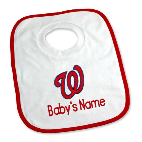 Washington Nationals Personalized Pullover Baby Bib