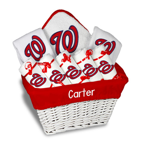 Washington Nationals Personalized 9-Piece Gift Basket