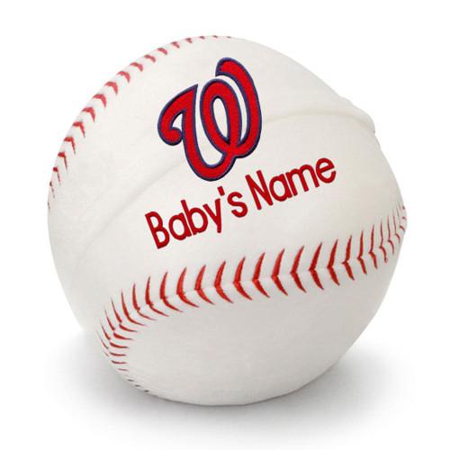 Washington Nationals Personalized Baseball Pillow