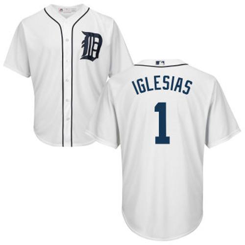 Jose Iglesias Youth Jersey - Detroit Tigers Replica Kids Home Jersey