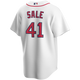 Chris Sale Youth Jersey - Boston Red Sox Replica Kids Home Jersey - back
