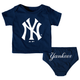 NY Yankees Baby Navy 2- pc. Set