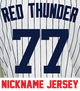 Red Thunder Youth Jersey - Clint Frazier Yankees Kids Nickname Home Jersey