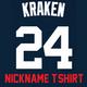 Kraken T-Shirt - Navy Gary Sanchez Yankees Adult Nickname T-Shirt