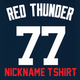 Red Thunder Ladies T-Shirt - Navy Clint Frazier Yankees Womans Nickname T-Shirt