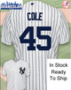 Gerrit Cole Toddler Jersey - NY Yankees Replica Toddler Home Jersey