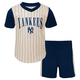 Yankees Baby Cooperstown Short Set - Throwback