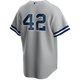 Mariano Rivera No Name Road Jersey - Number Only Replica by Majestic