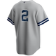 Derek Jeter No Name Youth Jersey - Number Only Kids Road Jersey